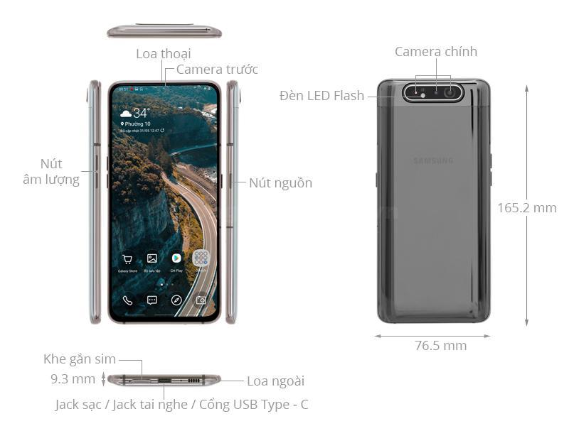 Thiết kế Galaxy A80