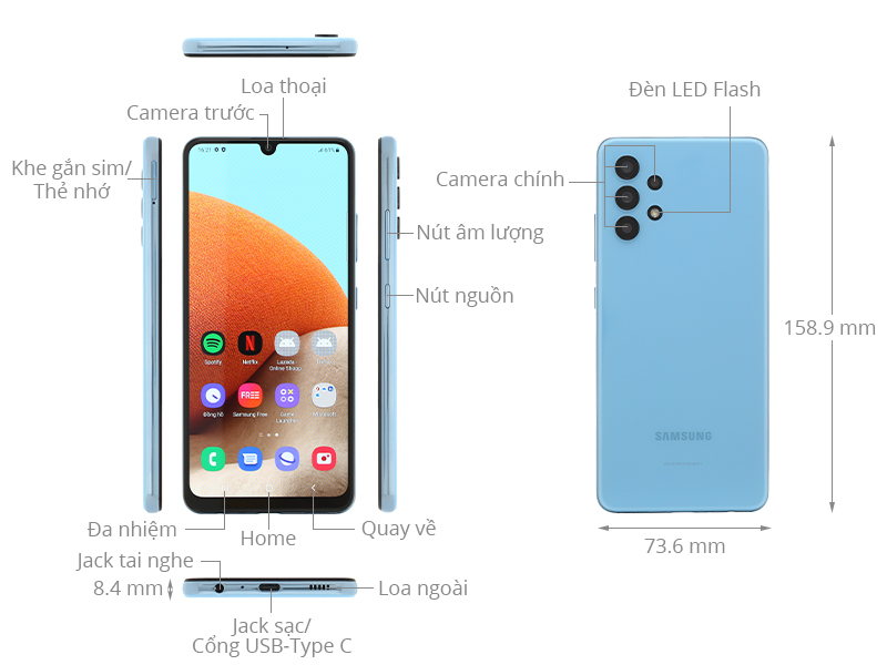 Thiết kế Samsung Galaxy A32 2021