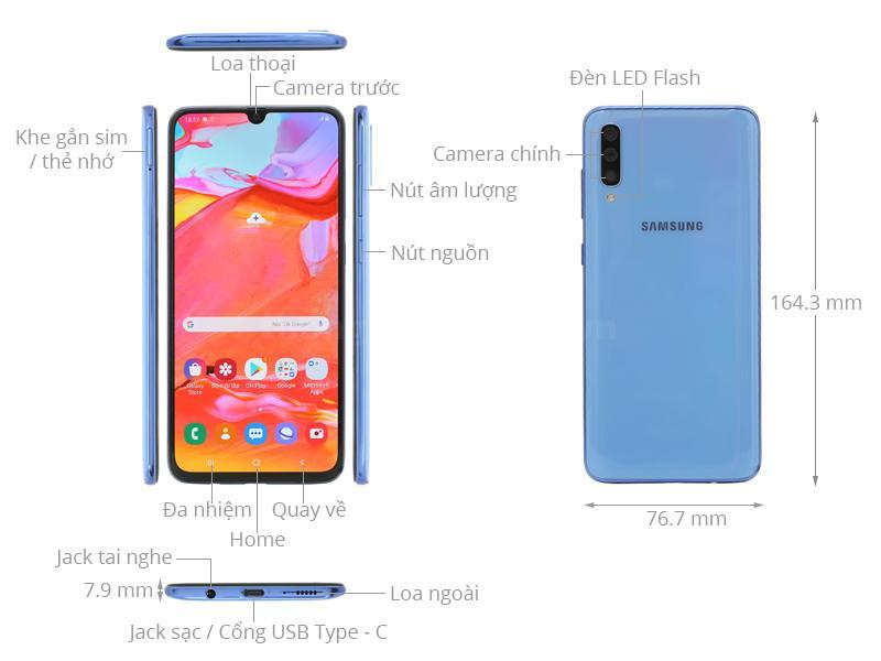Thiết kế Samsung Galaxy A70