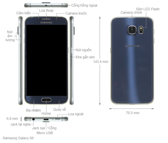 Thiết kế Samsung Galaxy S6 2015