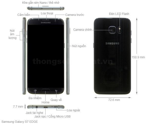Thiết kế Samsung Galaxy S7 edge 2016