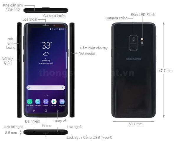 Thiết kế Samsung Galaxy S9 2018