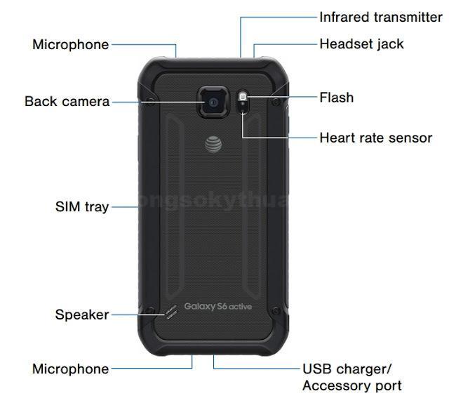 Thiết kế mặt sau Samsung Galaxy S6 Active 2015